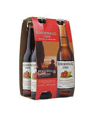 Rekorderlig Premium Strawberry & Lime Cider 330mL case of 24