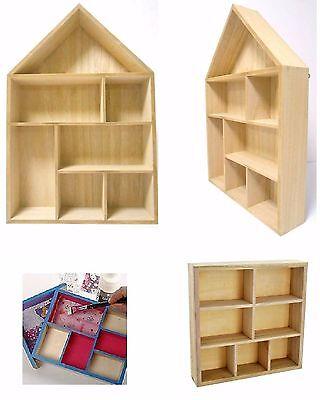 Storage Floating Unit Wall Cube Key Letter Rack Display Wooden Shelf House Shape 2