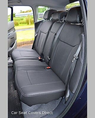 SEAT COVERS EBONY BLACK SUEDE//LEATHERETTE TO FIT A VW SHARAN CAR