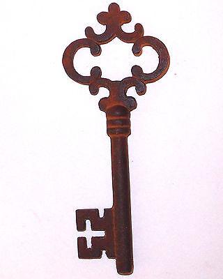 Antique Vintage 1800'S Style Victorian Cast Iron Large Skeleton Key Reproduction