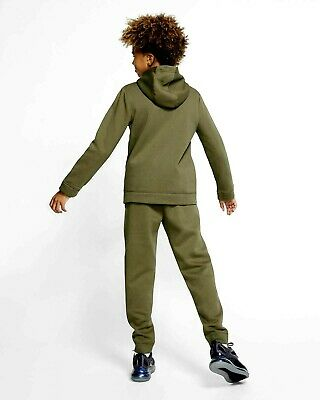 Nike Junior Boys Fleece Sportswear Lifestyle Tracksuit Track suit Khaki Olive 4