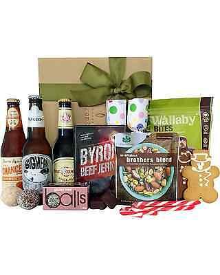 Byron Bay Gifts Beer & Byron Jerky Baskets Hamper 2