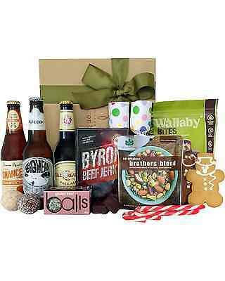 Byron Bay Gifts Beer & Byron Jerky Baskets Hamper 3