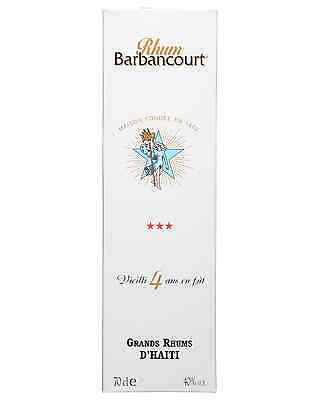 Barbancourt 3 Star Old Rum 4 Years Old 700mL bottle Dark Rum 3