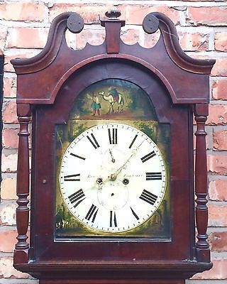 Oak & Mahogany 8 Day Inlaid And Cross Banded Long Case Grandfather Clock 4