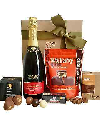 Byron Bay Gifts Bubbles and Bites Hamper Dry Red 750mL 2