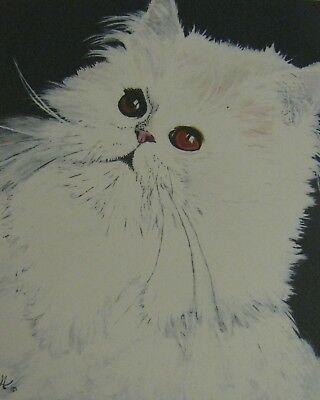 "C175   Original Acrylic Painting By Ljh        ""Pixie Bob""    Cat  Kitten 12"