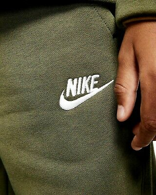 Nike Junior Boys Fleece Sportswear Lifestyle Tracksuit Track suit Khaki Olive 7