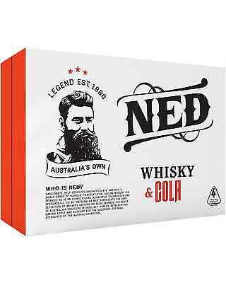 Ned Whisky & Cola 375mL case of 24 Premix Drinks Australia 3