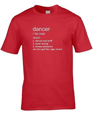 Dancer Definition Mens T-Shirt Music Gift Idea Work Job Dancing Choreographer 2