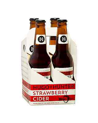 Hugo+Hunter Strawberry Cider case of 24 Fruit Flavoured Cider 330mL 2