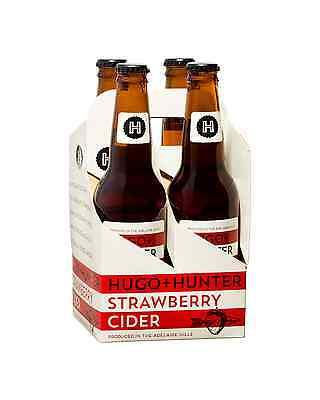 Hugo+Hunter Strawberry Cider case of 24 Fruit Flavoured Cider 330mL 2