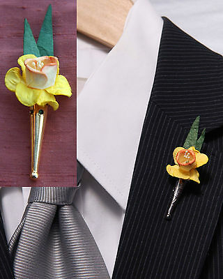 Poirot 1930s Style Posy Holder Lapel Pinbrooch Vase For Corsage