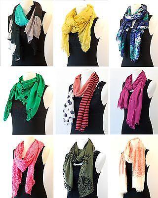 Ladies Fashion Long Scarf - Silky Bali Cotton All Seasons Scarf