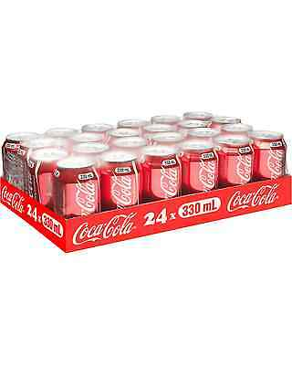 Coca Cola Cans 330mL 24 Pack case of 24 Soft Drinks