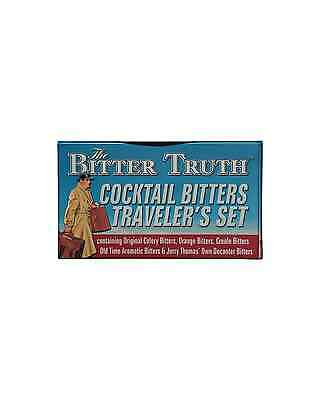 Cocktail Bitters Travelers Set can be carried in hand luggage, ideal for for the