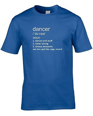 Dancer Definition Mens T-Shirt Music Gift Idea Work Job Dancing Choreographer 4