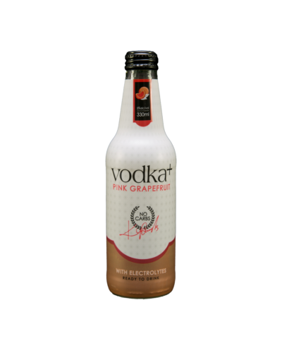Vodka Plus Pink Grapefruit 330mL case of 24 Vodka Premixed Drinks
