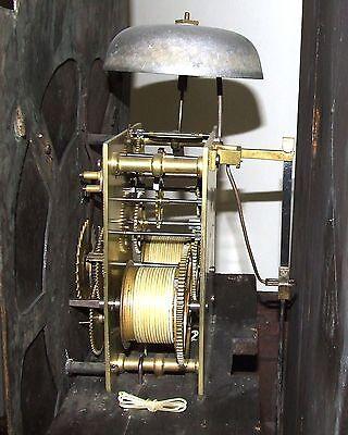 Antique 8 Day Oak Longcase Grandfather Clock Atkinson of GATESHEAD : Centre Date 11