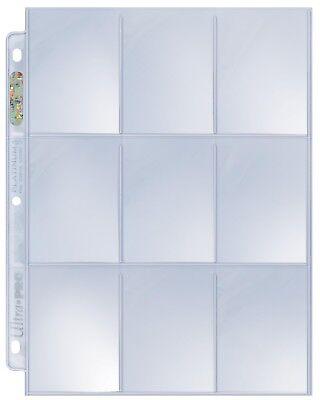 100 ULTRA PRO PLATINUM 9-POCKET Card Pages Sheets Protectors 1 box 209D baseball 2