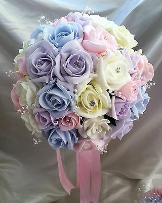 Fiori Matrimonio Luce colori pastello/Colori Arcobaleno Spose, Damigella, asole 4