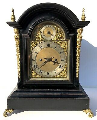 Antique Winterhalder & Hofmeier Ebonised Double / Twin Fusee Bracket Clock 2