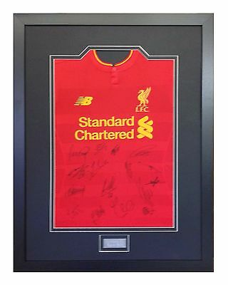 Frame For Your Signed Football/ Rugby Shirt + Free Engraved Plaque+Shirt Insert 8