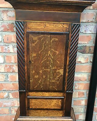 Oak And Mahogany Cross Banded Longcase /grandfather Clock With Rolling Moon 3