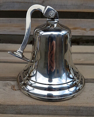 """6"""" Last Orders Wall Mounted Chrome Silver Door Bell Ships Bell  ~ Pub  Bell 3"""