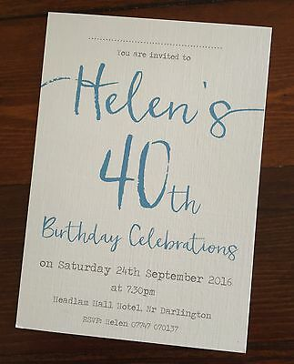 handmade 21st 30th 40th 50th 60th 70th birthday party invitations