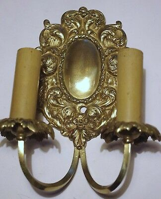 Pair of Silver Plate Bronze E. F. Caldwell Sconces Two-Arms OFFERS WELCOME 2