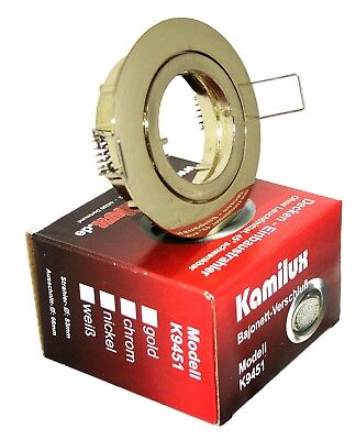 Kamilux® Ultra Flach IP20 LED Einbauleuchten BAJO 5W 230V Einbauspot 26,5mm