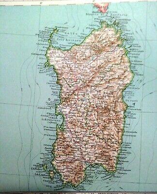 Cartina Geografica Sud Sardegna.Carta Geografica Antica Italia Sud Sicilia Sardegna Malta 1929 Antique Map Eur 60 00 Picclick It