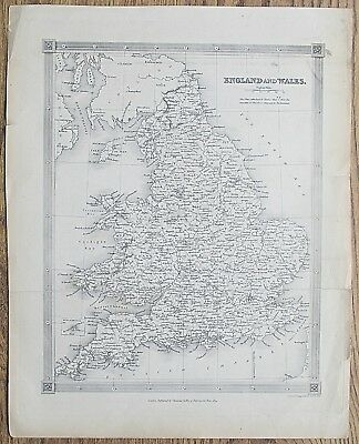 12 19th Century Great Britain England Wales Various Genuine Antique Maps 10