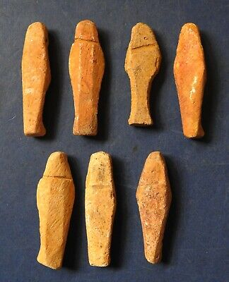 Collection Of Seven Ancient Egyptian Miniature Shabti 2