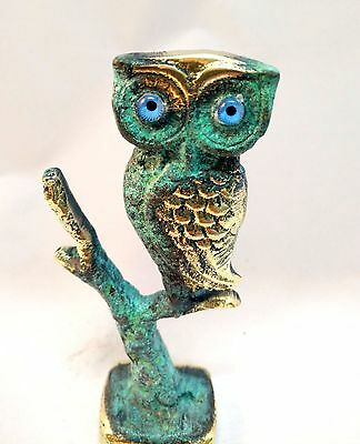 Ancient Greek Bronze Museum Replica Of Owl Symbol Of Athena Goddess Of Wisdom 6