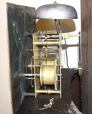 Antique Brass Dial Burr / Pollard Oak Longcase Grandfather Clock MOSS FRODSHAM 12