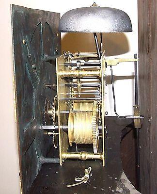~ Antique Brass Dial Burr / Pollard Oak Longcase Grandfather Clock MOSS FRODSHAM 12