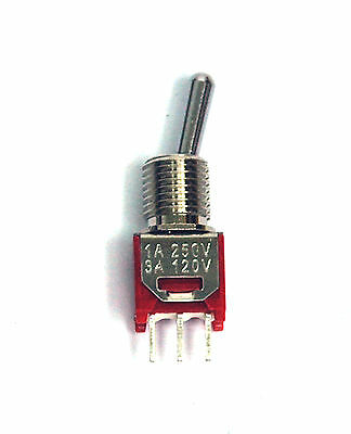 New Dailywell 2MS1T1B1M2QES On//On 3P Sub-Miniature Toggle Switch 100 Pcs