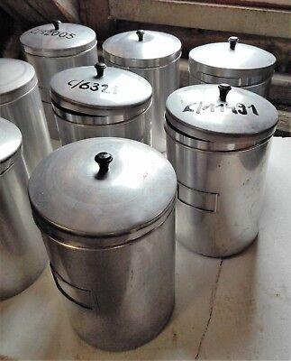 Alu Behälter  Aufbewahrungsbehälter mit Deckel Vitage Pharmazie mittelgroß alt 4