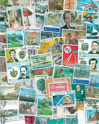 World, Collection lot of 100 different worldwide stamps, timbres, briefmarken 2