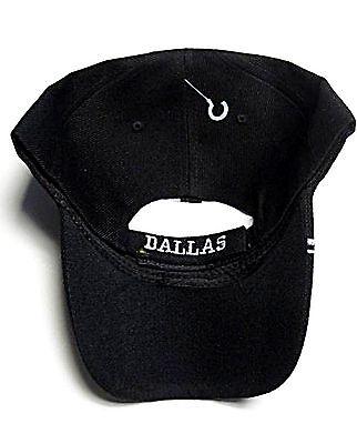 bf8362c57 3 of 4 Dallas City Black Hat Cap Script Visor Embroidered Signature Double  Cowboys Star