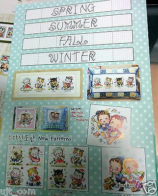 Korea sodastitch SO-3196 Four seasons Dogs Counted cross stitch chart