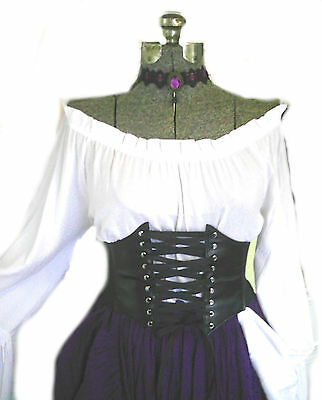 3815edfdece ... Women s Renaissance Steampunk Outfit Costume Underbust Corset Pirate  Wench L Xl 3