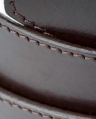 Brown Automatic buckle belt Genuine leather Ratchet Men's Adjustable Capo Pelle 5