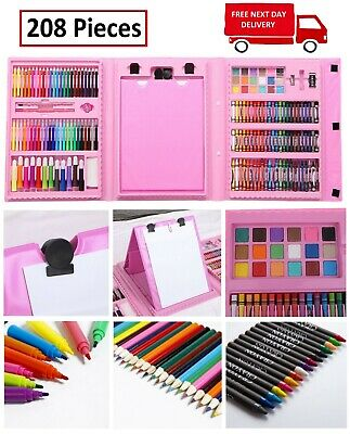 Kids Colouring Set Drawing Set 50-208PCS Art Case Pencils Painting Childrens 4