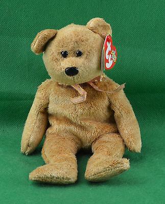 ... Cashew TY Beanie Baby Soft Gold Tan Teddy Bear MWMT Birthday April 22  2000  4292 e36a9c656180