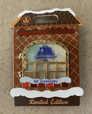 2019 Disney Contemporary Resort Christmas Gingerbread House Pin Fairy Godmother 2