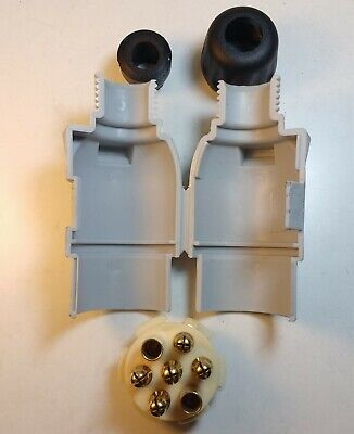 7 Pin Caravan Plug & Socket Plastic 12V 12S Trailer Towing Maypole MP31B & MP29B 5