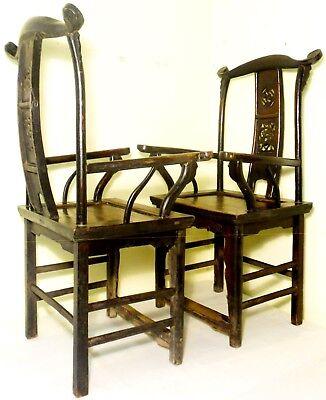 Antique Chinese High Back Arm Chairs (2787)(Pair), Circa 1800-1849 11